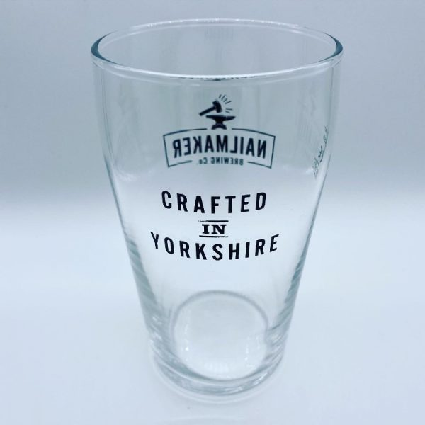 Crafted in Yorkshire Pint Glass