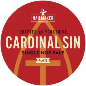Cardinal Sin Single Hop Pale Ale Pump clip