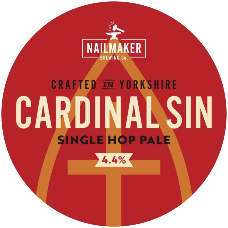 Cardinal Sin Single Hop Pale Ale Pump clip